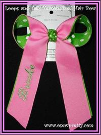PERSONALIZED LOOPS AND TAILS HAIR BOWS