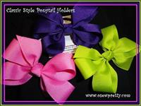 CLASSIC STYLE HAIR BOW PONYTAIL HOLDERS