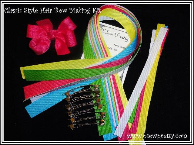 the make it your self classic style hair bow making kit