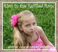 RUFFLED ROSE PONYTAIL HOLDERS