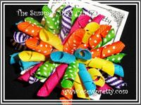 CURLY KORKER HAIR BOWS