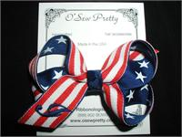 PATRIOTIC HAIR BOWS