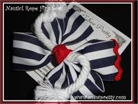RED AND BLUE NAUTICAL HAIR BOWS